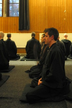 Photo of zazen posture